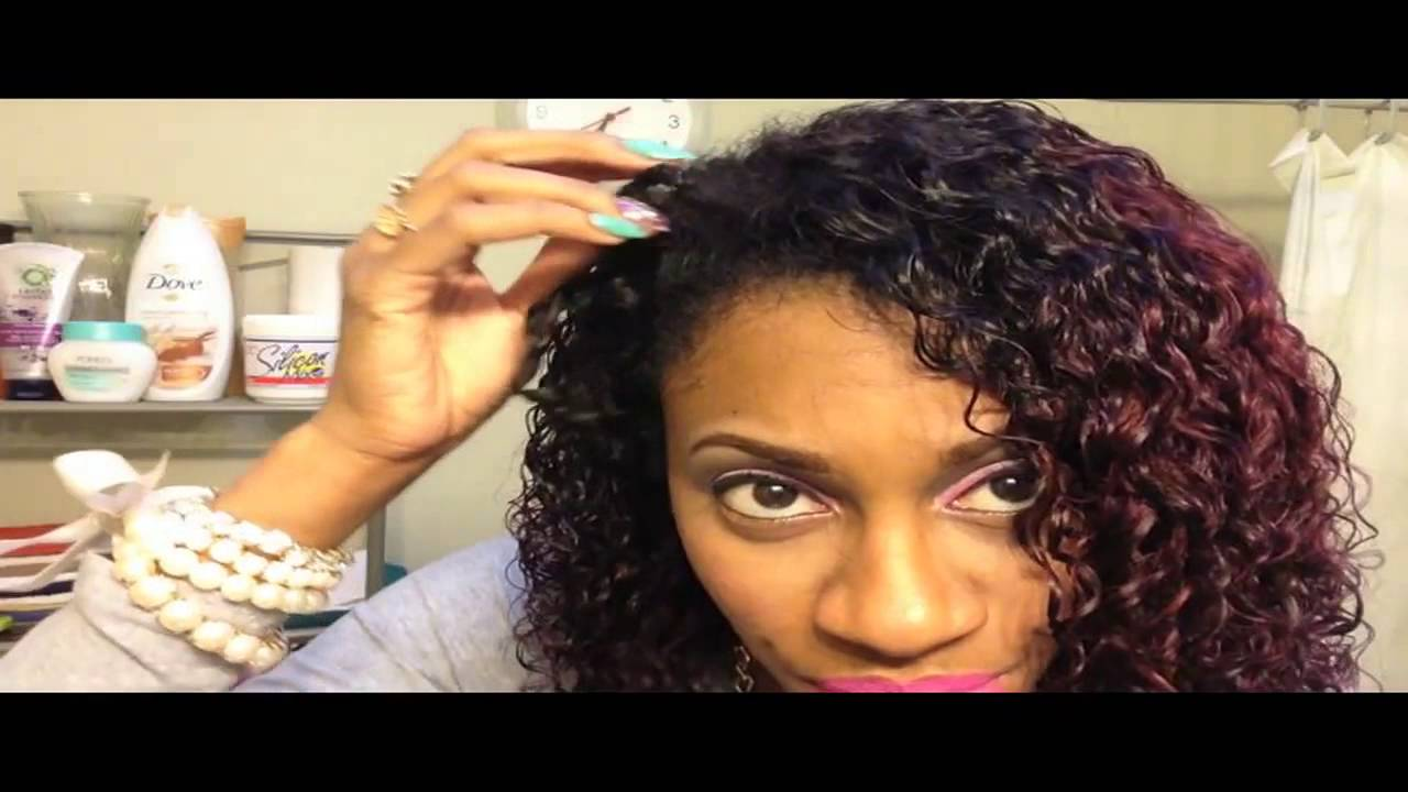 blending relaxed hair with curly