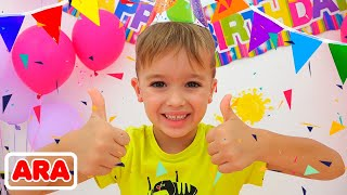 عيد ميلاد سعيد نيكي! حفلة عيد ميلاد للأطفال مع فلاد وديانا وروما