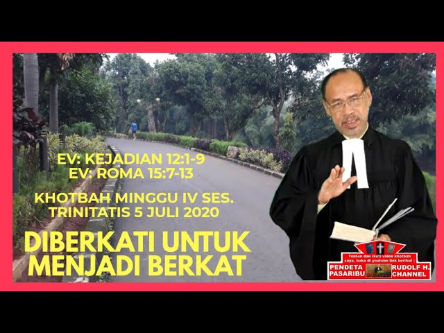 Diberkati Untuk Menjadi Berkat Kejadian 12 1 9 Youtube