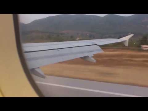Landing in Odysseas Elytis Airport, Lesbos Mytilene 2013
