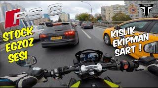 AUDİ RS6 STOCK EGZOZ SESİNE BAK ! TRİUMPH SPEED TRİPLE RS ANAHTARSIZ ÇALIŞTIRMA / MOTOVLOG