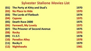 Sylvester Stallone Movies List