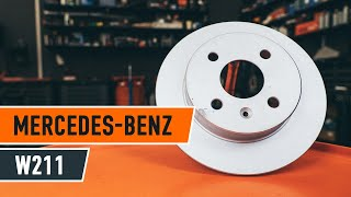 Înlocuire Placute Frana MERCEDES-BENZ E-CLASS: manual de intretinere si reparatii