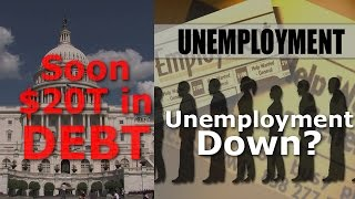 Unemployment Number BS from BLS, National Debt $19 Trillion Lie #CTSECN with #KennethAmeduri
