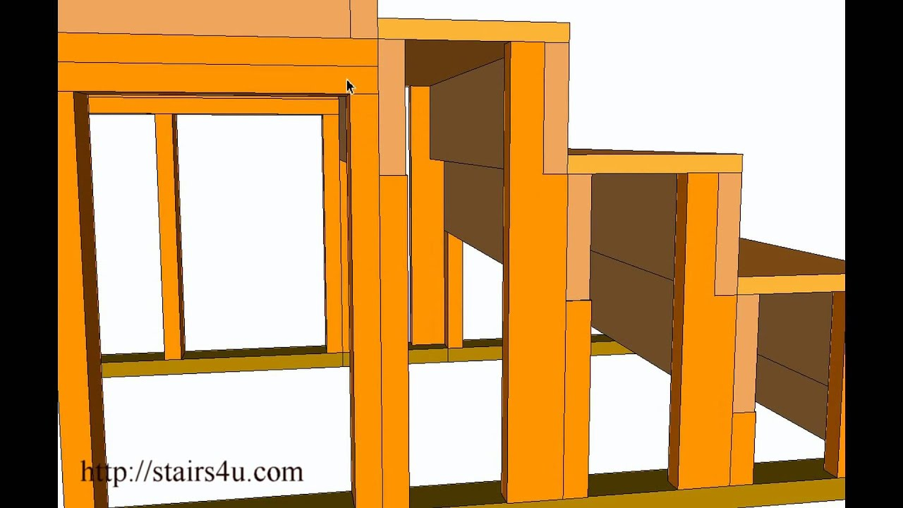 How To Use 2x4 For Stair Stringers U2013 Construction And Building Methods    YouTube
