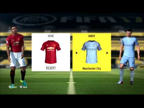 FIFA 17 Manchester United vs Manchester City Premier League Gameplay PS3 HD