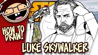How to Draw: LUKE SKYWALKER (Star Wars: The Force Awakens) | Narrated Easy Step-by-Step Tutorial