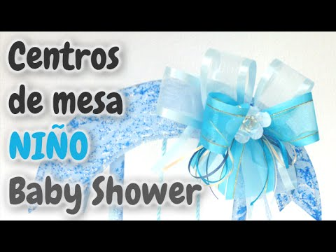 40 centros de mesa para baby shower ni o hd youtube - Mesa de baby shower nino ...