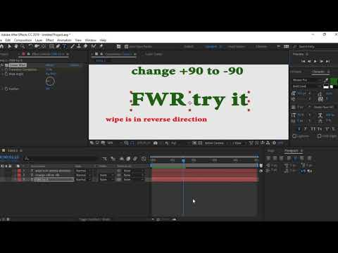 After Effects Tutorial: Text-to-Text CARD WIPE TRANSITION, #1