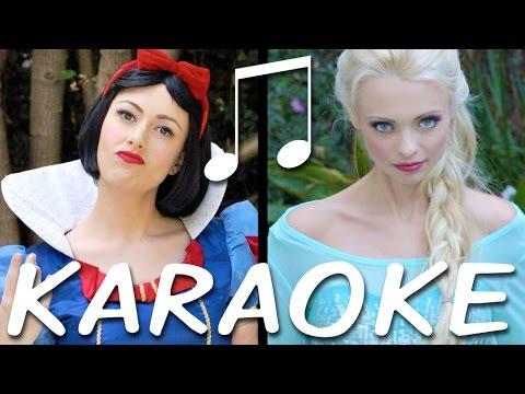 SNOW WHITE vs ELSA Karaoke (Princess Rap Battle) Instrumental Sing-along