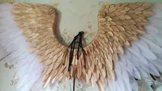 Крылья ангела золотые с белым #ЛисьяМастерская . крылья в интерьере