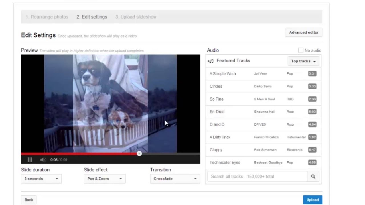 How To Add Audio To A Slideshow On YouTube : Internet Help
