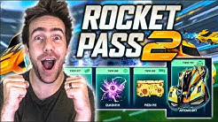 BUYING 100+ TIERS OF THE *NEW* ROCKET PASS 2 IN ROCKET LEAGUE (LIVE)