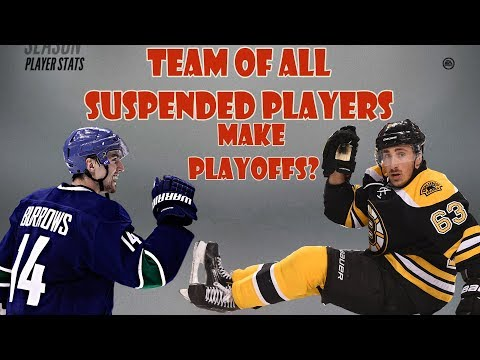 Can a Team of ALL SUSPENDED Players Make The Playoffs NHL 18