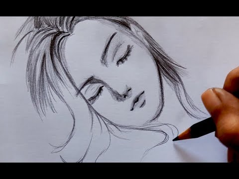 ᴴᴰ Draw Girl Lying Down/sleep