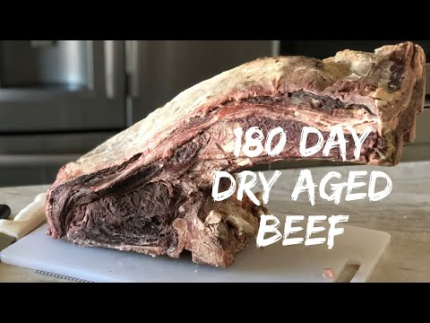 Cutting into 180 day dry aged steak!