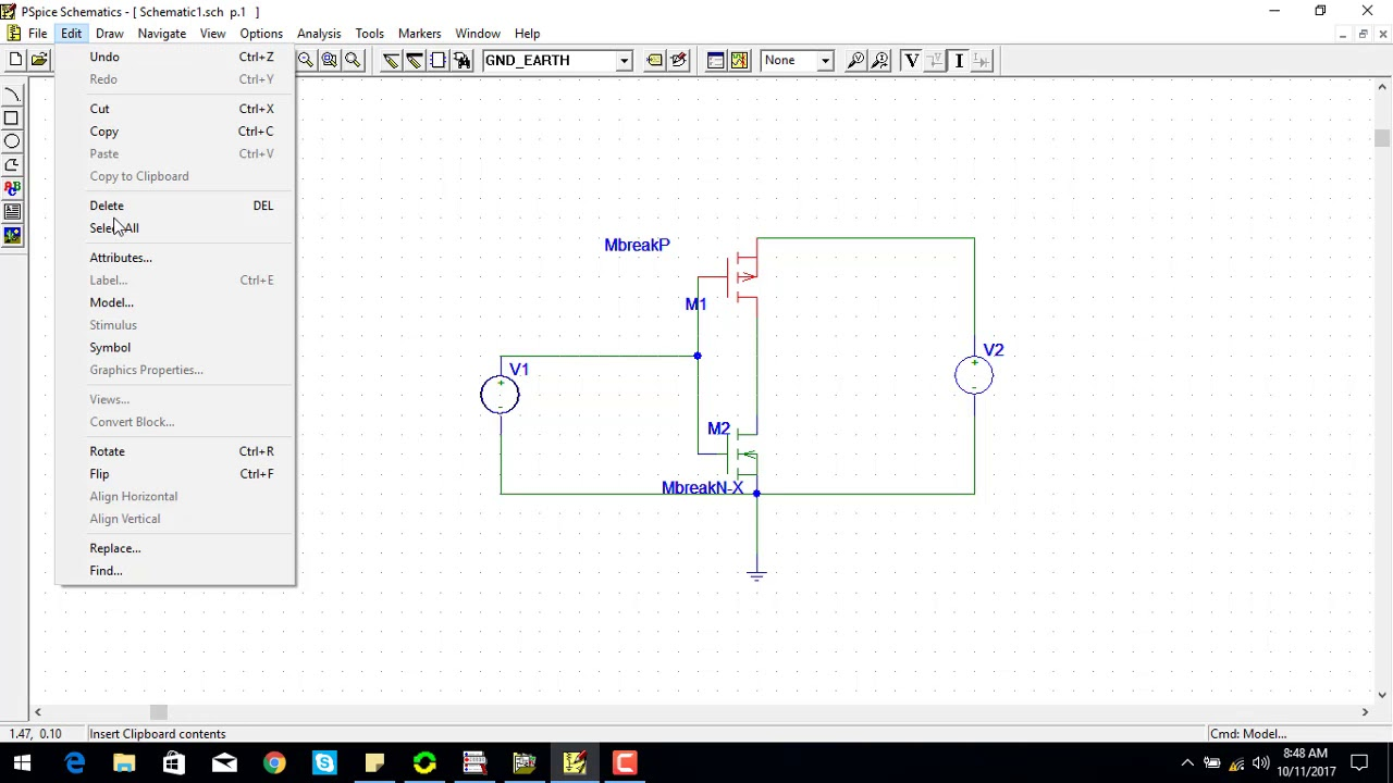 simulation analysis of cmos inverter using pspice