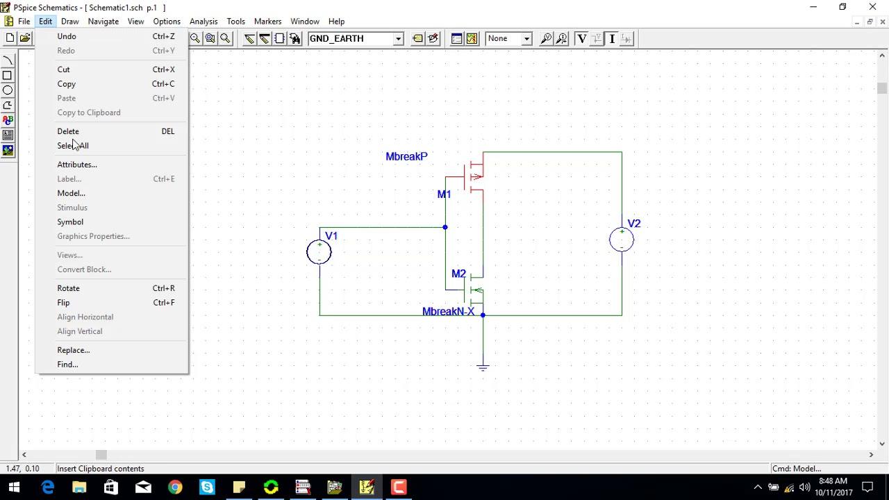working of cmos inverter circuit youtube
