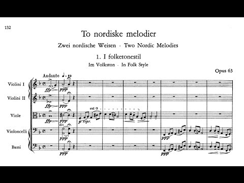 Edvard Grieg Two Nordic Melodies for the String Orchestra Op.63