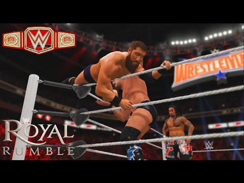 WWE 2K17 -Kevin Owens Defend his Universal Title against 30 Man Royal Rumble Match 2017 (PS4)