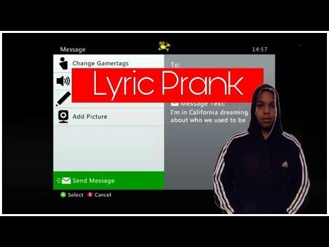 SONG LYRIC PRANK ON STRANGER (Adele - 'Hello' Lyrics) Xbox 360