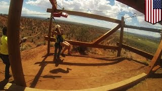 Zip line accident: man falls 150 to his death at Utah