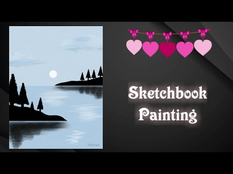 Digital painting time lapse – Landscape painting on Autodesk Sketchbook || Digital illustration ||