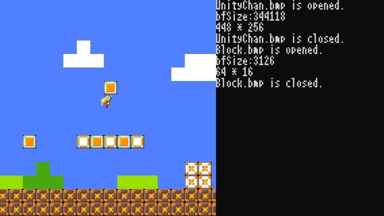スーパーマリオを小一時間で作ってみた【OpenGLゲームプログラミング実況】Programming Super Mario Bros.