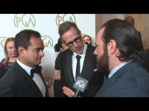 Producers Guild Red Carpet, ShayCarl with Wolf of Wall Street Producers