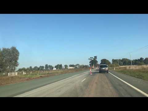 ROADWORKS  JUST OUTSIDE OF SHEPPARTON, VICTORIA, AUSTRALIA