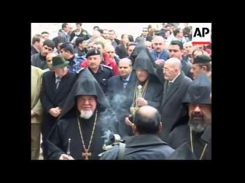 Armenian Patriach Arrives For Armenian Christmas Celebrations