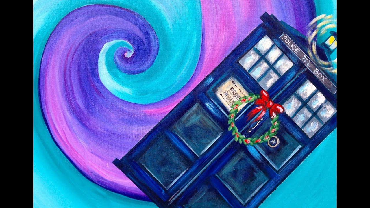 Doctor Who Dunnit Art Crawl Easy Acrylic Painting Tardis