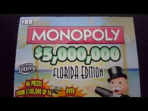 Scratch off WINNER!!! $20 florida lottery brand new Monopoly game.