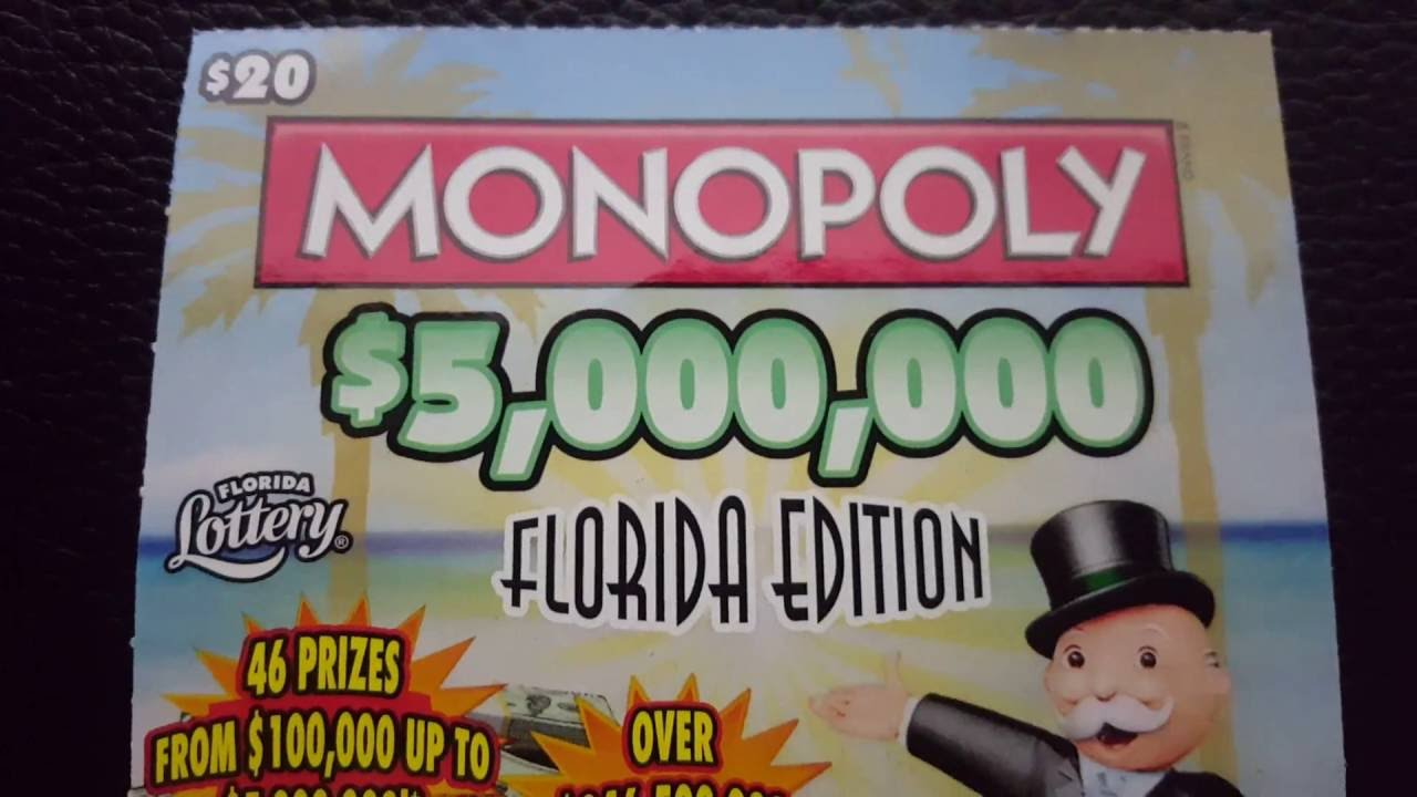Scratch off WINNER!!! $20 florida lottery brand new Monopoly game