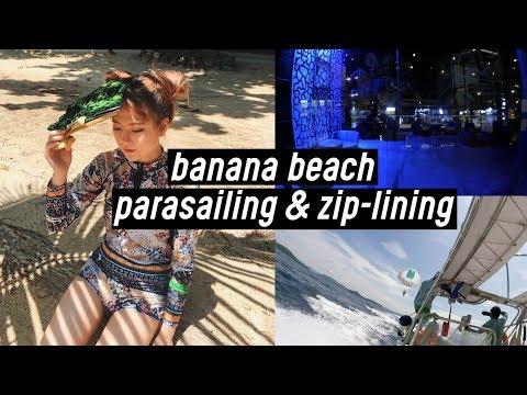 Phuket Trip #2: Parasailing, Zip-lining, Banana Beach Koh Hey Island, more Food!! | DTV #32