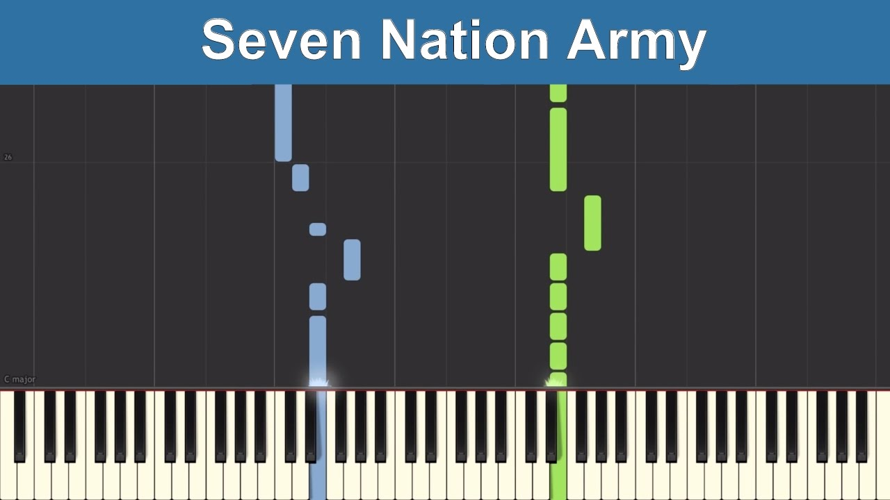 Seven Nation Army - The White Stripes - Synthesia Piano ...