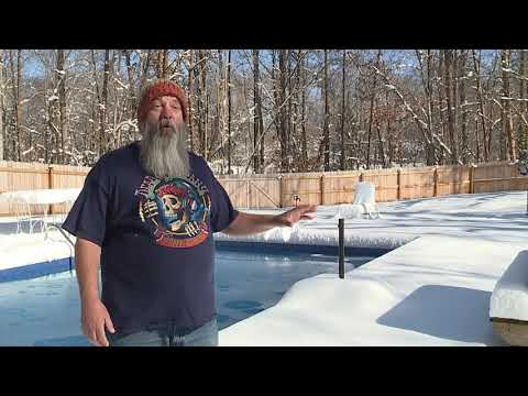 Mebane man jumps into freezing cold pool