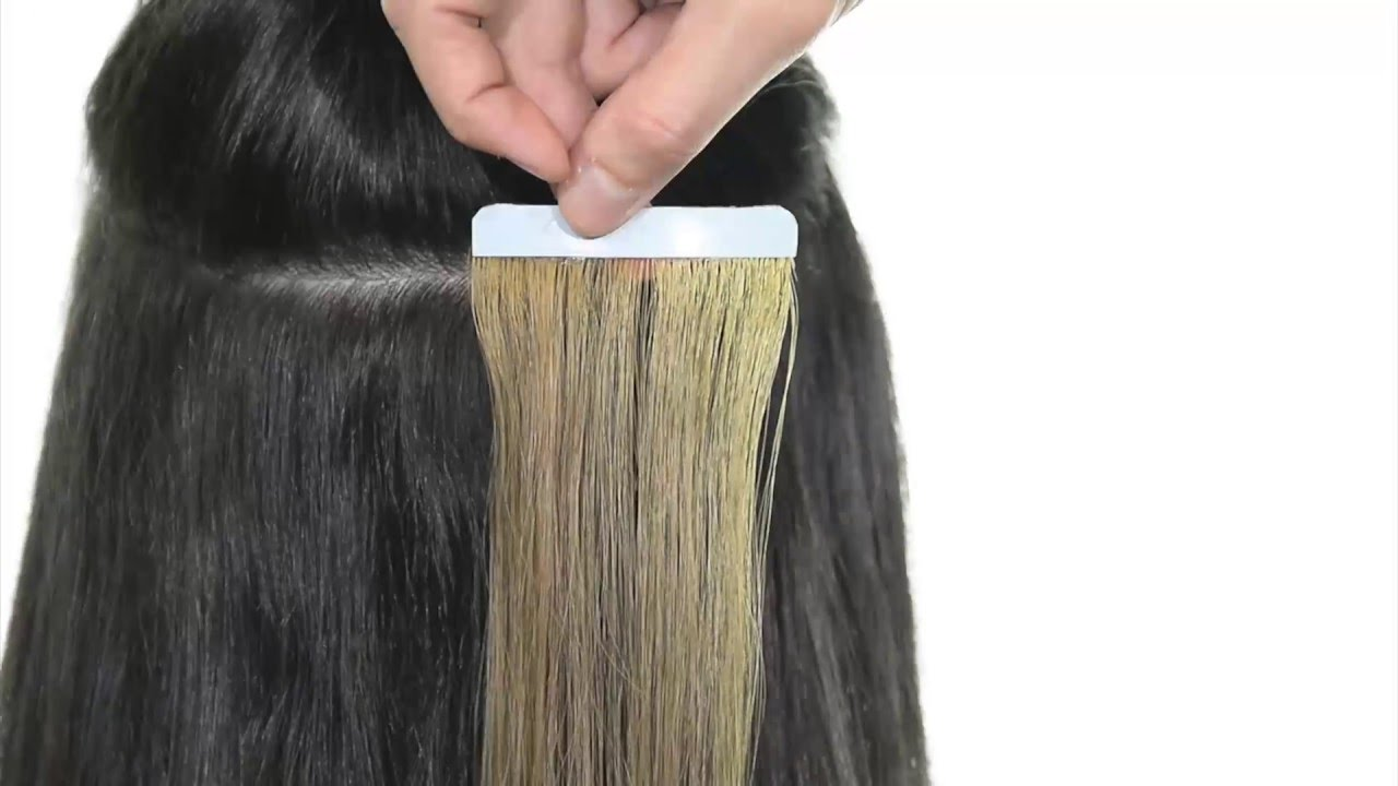 how to put in tape hair extensions yourself