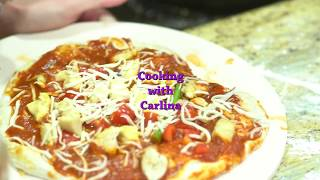 COOKING WITH CARLINA: HOMEMADE PIZZA WITH SANTWON MCCRAY AND A BIT OF SASS!