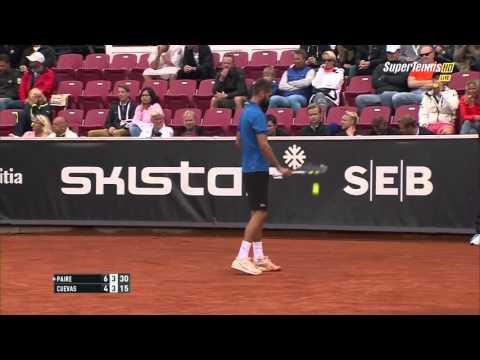 Benoit Paire vs Pablo Cuevas FULL MATCH HD SWEDISH OPEN 2015 PART 2