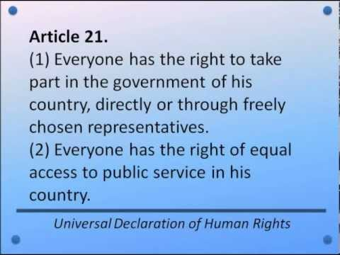 Universal Declaration of Human Rights -- Articles 1-30 -- Hear and Read the Full Text