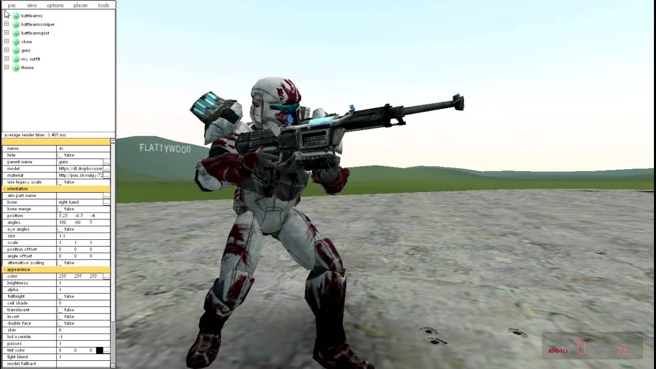 Garry's Mod PAC3: Star Wars: Republic Commando