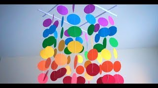 DIY Simple Home Decor - Hanging Paper Craft - Handmade Decoration - Wind Chime