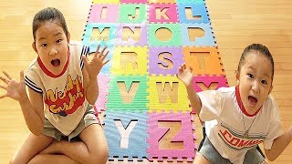 abc phonics song | Kids song & Nursery rhymes | Fantastic family pretend play 영어 알파벳 공부 놀이