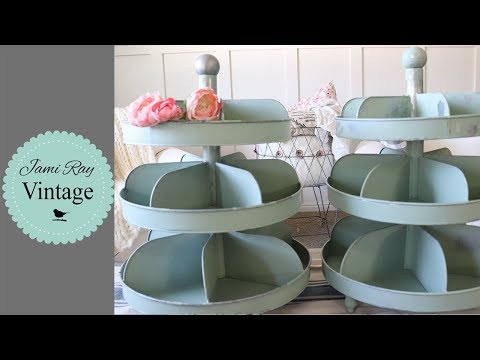 Painting Metal Organizers With Chippy Milk Paint | Painting Metal With Milk Paint