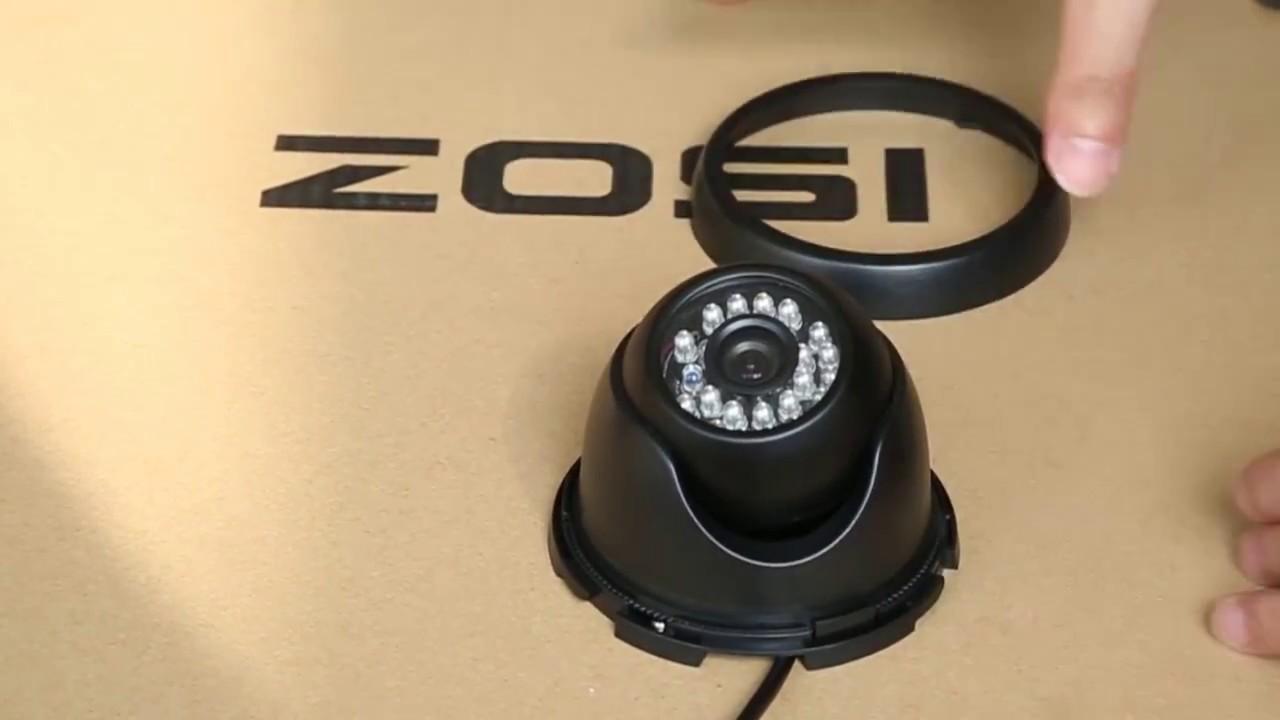 ZOSI Security Camera - How to install a dome camera