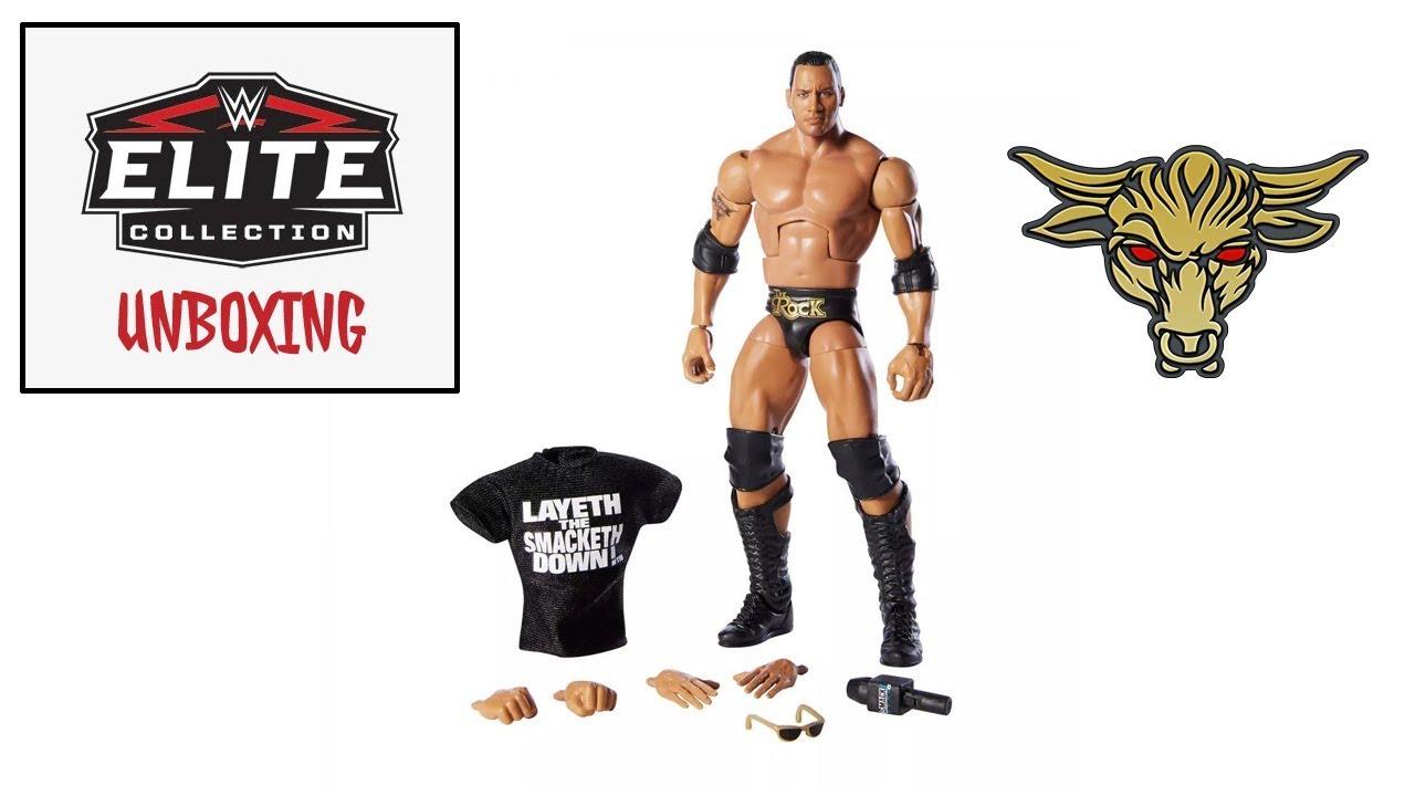Mattel WWE Elite Series 69 figure The Rock Wal Mart exclusive Rare