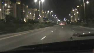 Mustang driving on Palm Jumeirah without  Music