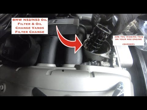 BMW N52/N53 How To Change Oil Filter & Oil...... BEWARE This Part Will Kill Your N52 ENGINE !!!!!