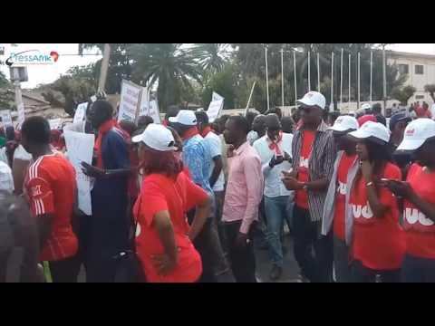 Revivez sur l'oeil du senegal la grande marche de la presse Sénégalaise en Images et video